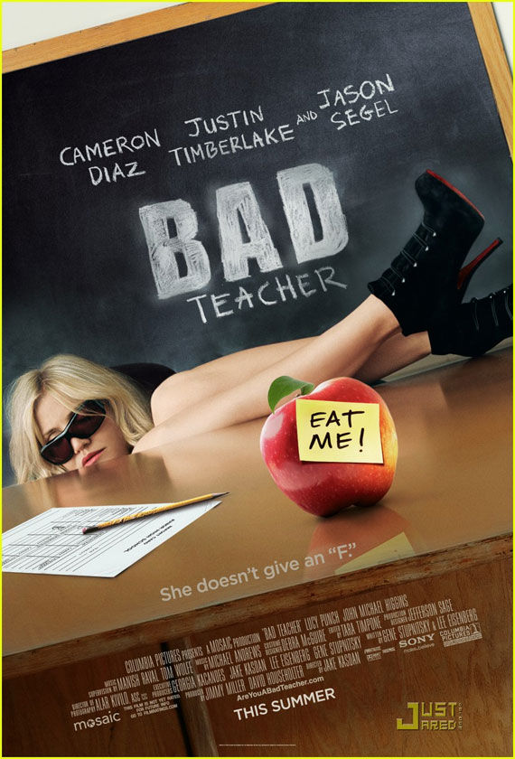 bad teacher poster Movie Poster Roundup: Fast Five, Thor, X Men: First Class & More