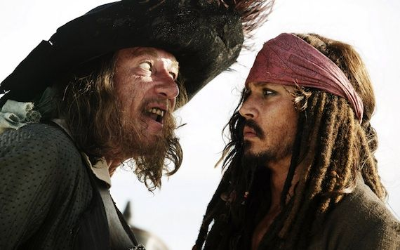 barbossa sparrow pirates stranger tides Captain Jack Recruits Pirates in Stranger Tides Teaser Trailer