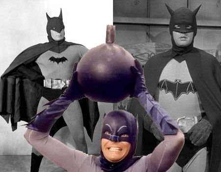 Lewis Wilson, Robert Lowery and Adam West as Batman