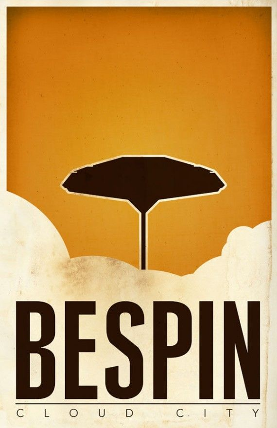 bespin cloud city travel poster 570x880 SR Pick: Cool Minimalist Star Wars Travel Posters