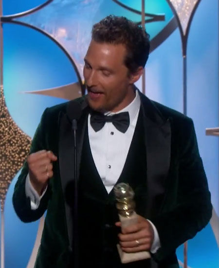 2014 Golden Globe Best Moments - McConaughey