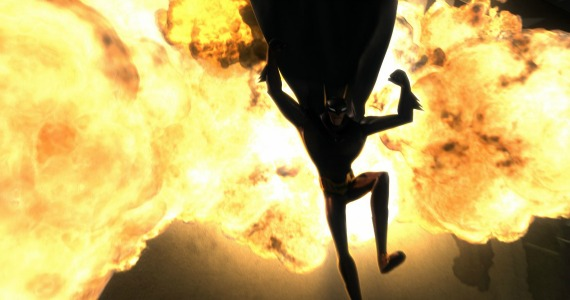 beware the batman still 4 Batman escaping explosion
