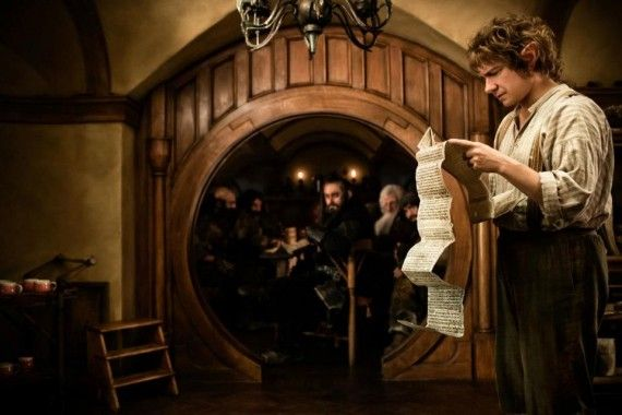 bilbo baggins hobbit 570x380 Bilbo Baggins eyes a long list in The Hobbit: An Unexpected Journey