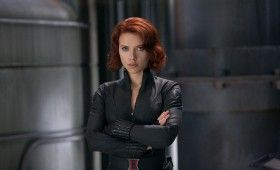 black widow avengers 280x170 The Avengers: Helicarrier Images & Captain America Costume Talk