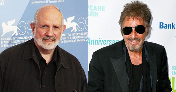 brian de palma to direct al Pacino & Brian De Palma Re Teaming for Joe Paterno Biopic Happy Valley