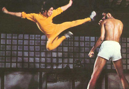 bruce lee kareem flying kick dragon Bruce Lees Silent Flute Once Again Calls to Hollywood