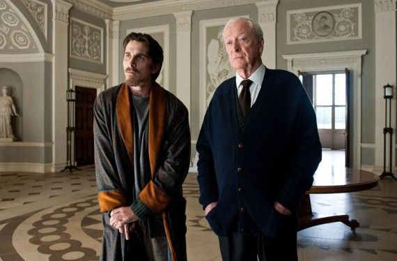 bruce wayne alfred dark knight rises 570x374 Bruce Wayne (Christian Bale) and Alfred (Michael Caine) in Dark Knight Rises