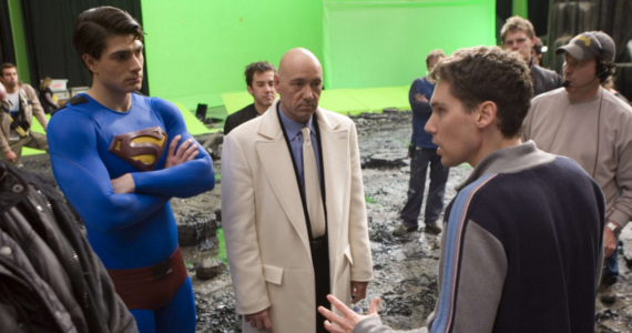 bryan singer kevin spacey brandon routh superman returns set Bryan Singer Responds to Superman Returns Criticism; Wanted Darkseid for Sequel