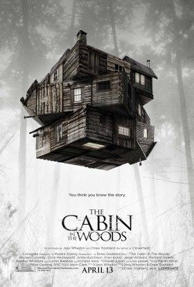 cabin in woods poster 280x414 Cabin in the Woods Trailer: Evil Dead By Way of Joss Whedon