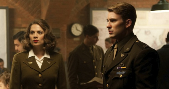 Peggy Carter and Steve Rogers in Captain America