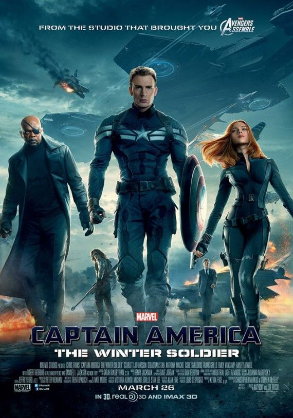 captain america 2 poster uk full 570x814 Captain America: The Winter Soldier Super Bowl Trailer