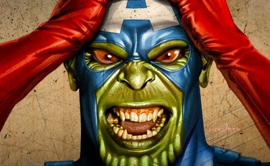 captain america skrull Avengers Set Images Reveal New Captain America Costume; Plot Details