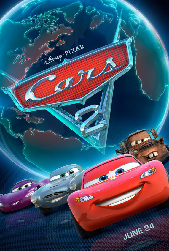 cars 2 movie poster Movie Poster Roundup: Rubber, Rio, True Legend, Super & More