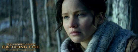 catching fire katniss lawrence 570x216 The Hunger Games: Catching Fire Trailer: The Capitol Strikes Back