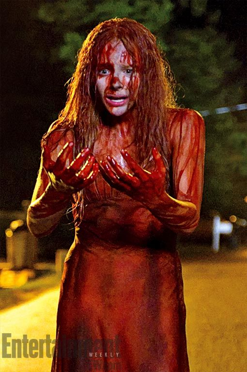 chloe moretz carrie Chloe Grace Moretz as a Blood Drenched Carrie