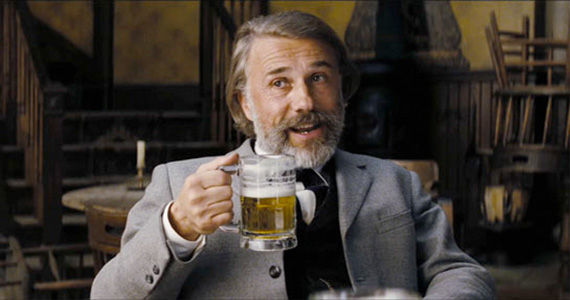christophwaltz djangounchained beer Christoph Waltz to Host SNL   Are You Excited?