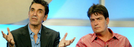 chuck lorre charlie sheen two and a half men Robert Kirkman Wants Charlie Sheen For The Walking Dead Season 2
