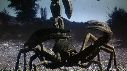 clash of the titans original scorpion Clash of the Titans: Set Photo of Giant Scorpion