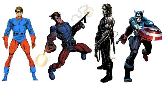 comic book bucky through the ages Captain America Comic Book & Movie Comparison Guide