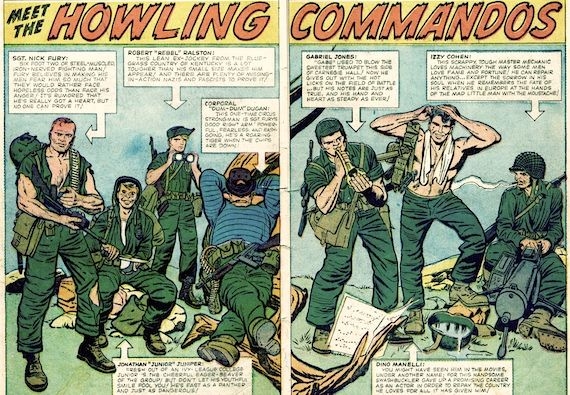 comic book howling commandos Captain America Comic Book & Movie Comparison Guide