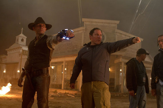 cowboys and aliens daniel craig jon favreau Cowboys & Aliens Set Visit Report