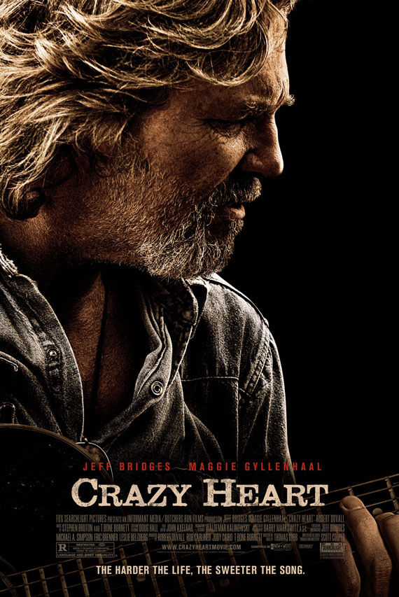 crazy heart poster Poster Friday: Avatar, Kick Ass, Lost, Salt & More!