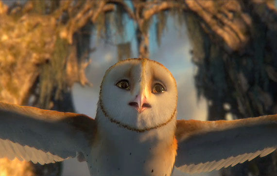 creepy owl Legend of the Guardians Trailer