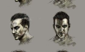 crow reboot concept artwork headshots 280x170 Concept Artwork Reveals Bradley Coopers The Crow Character Design