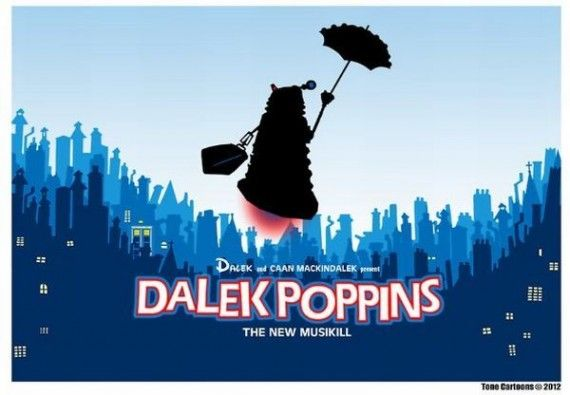dalek poppins 570x395 SR Geek Picks: Fresh Prince & Carlton Dance Reunion, The Truth Behind Disney Movies & More!