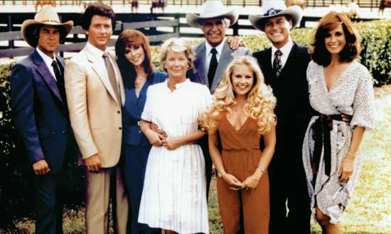 dallas group shot TNTs Dallas Reboot Bringing Back Larry Hagman to Play J.R.