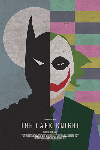 dark knight retro poster SR Pick: Cool Retro Movie Posters from Brandon Schaefer