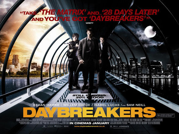 daybreakers poster ethan hawke willem dafoe isabel lucas Poster Friday: Avatar, Kick Ass, Lost, Salt & More!