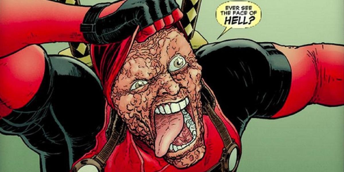 obligatory Dude Above You Deadpool-face