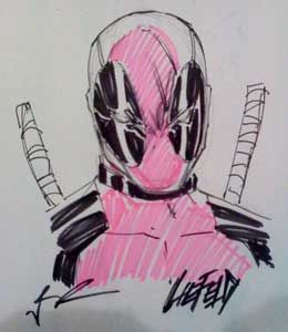 deadpool rob liefield quick sketch Deadpool Creator Talks Deadpool Solo Project