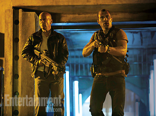 die hard 5 image First Die Hard 5 Image: John McClane and Son Go Hunting Criminals