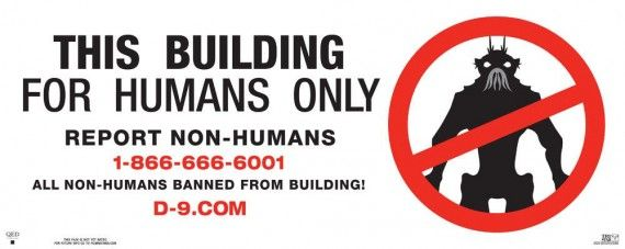 district nine ver7 xlg 570x227 District 9 Humans Only Viral Poster