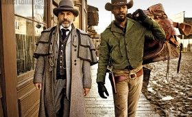 django unchained christoph waltz jamix foxx 280x170 First Django Unchained Images: Cowboys in Tarantinos Old South