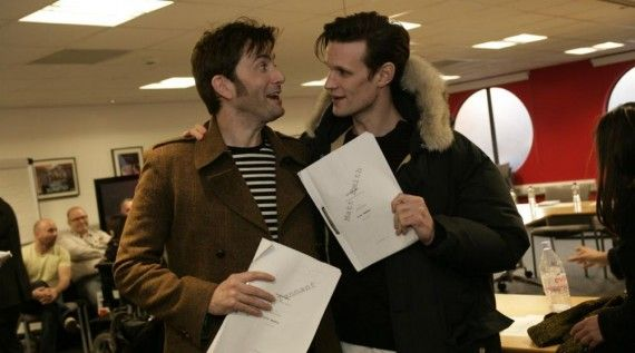 doctor who 50th special david tennant matt smith 570x317 Doctor Who 50th Anniversary Table Read: Matt Smith & David Tennant
