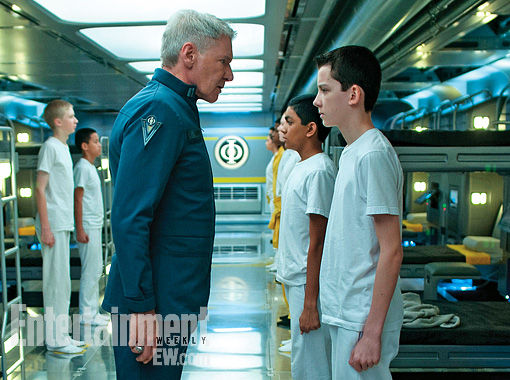 enders game ford butterfield image Gavin Hood Talks Enders Game; New Image with Harrison Ford and Asa Butterfield