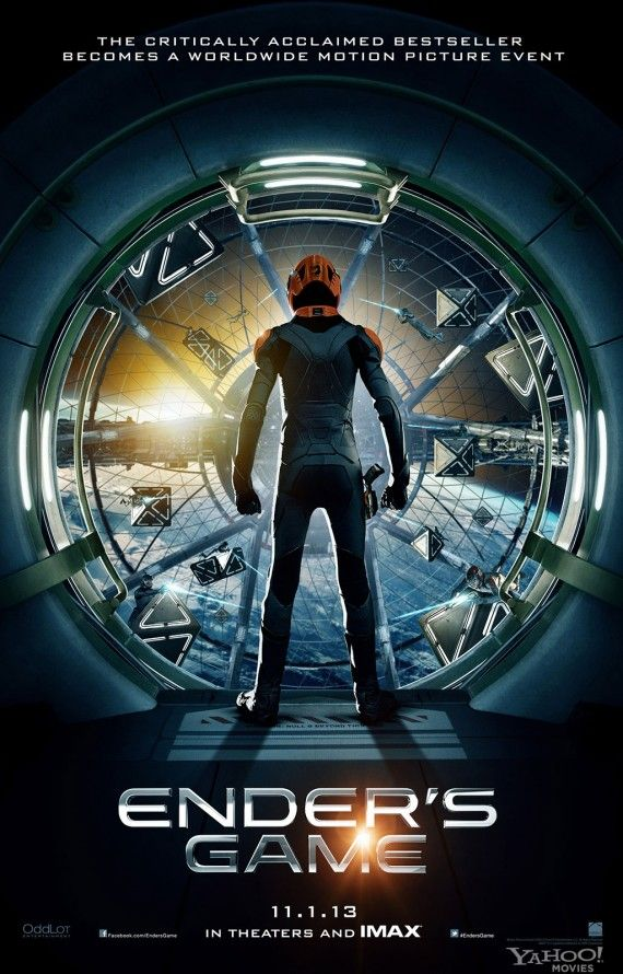 enders game poster 570x890 Enders Game Poster and Director Gavin Hood Tease the Battle Room