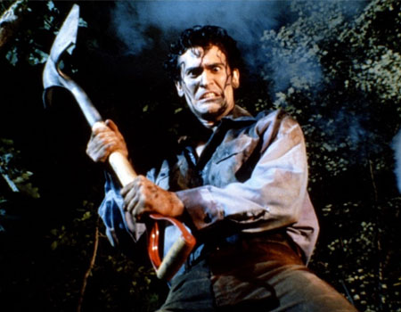 Evil Dead - Ash with Shovel at Grave