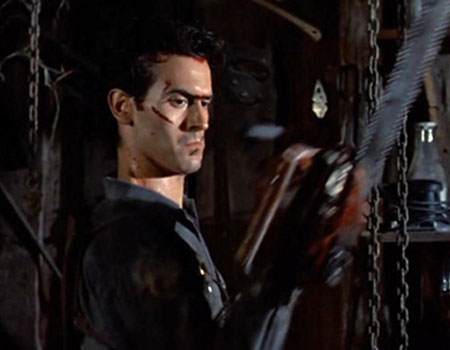 Evil Dead - Ash Building His Chainsaw Arm
