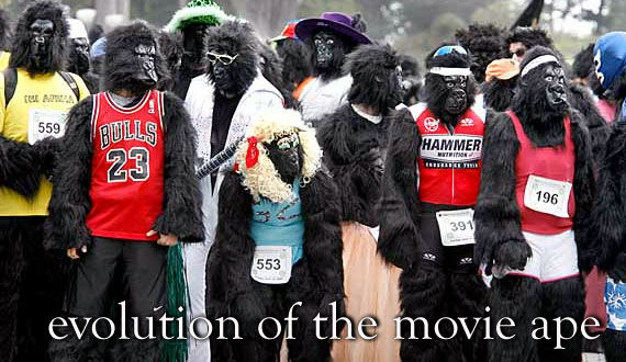 evolution of the movie ape The Evolution of the Movie Ape