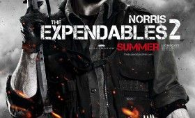 expendables 2 chuck norris poster 280x170 Expendables 2 Character Posters: Meet the New Dirty Dozen
