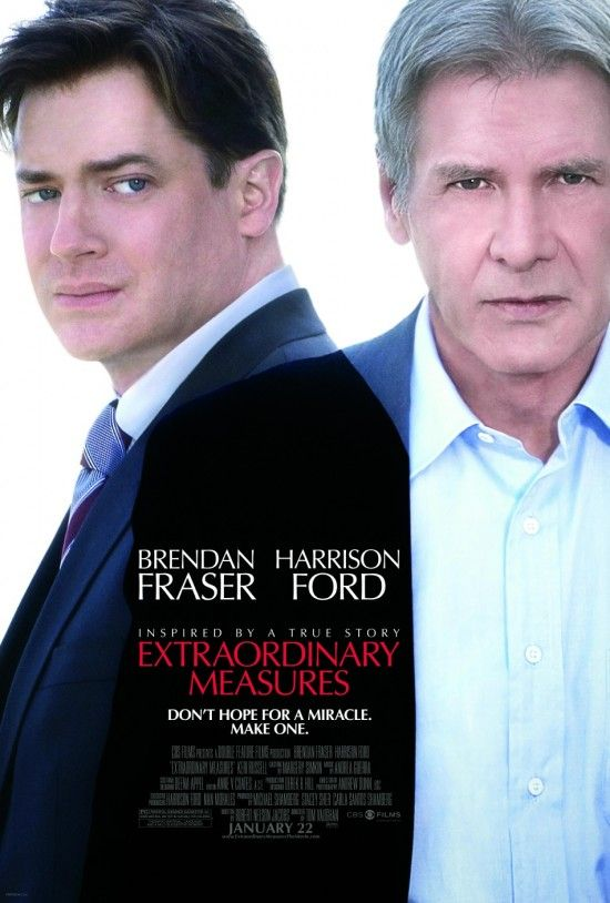 extraordinary measures poster harrison ford brendan fraser Poster Friday: Avatar, Kick Ass, Lost, Salt & More!