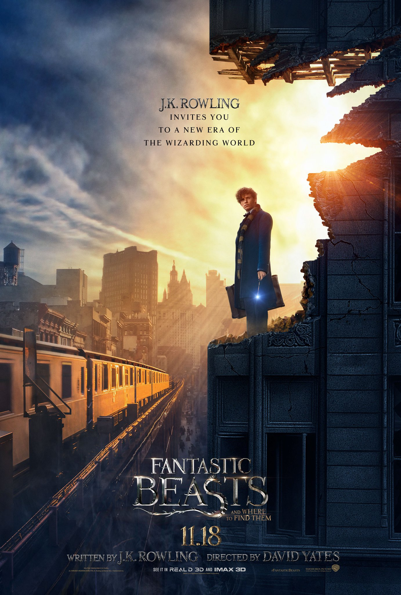 Resultado de imagen para fantastic beasts and where to find them poster