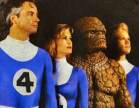 Alex Hyde-White, Rebecca Staab, jay Underwood and Carl Ciafalio as the Fantastic Four