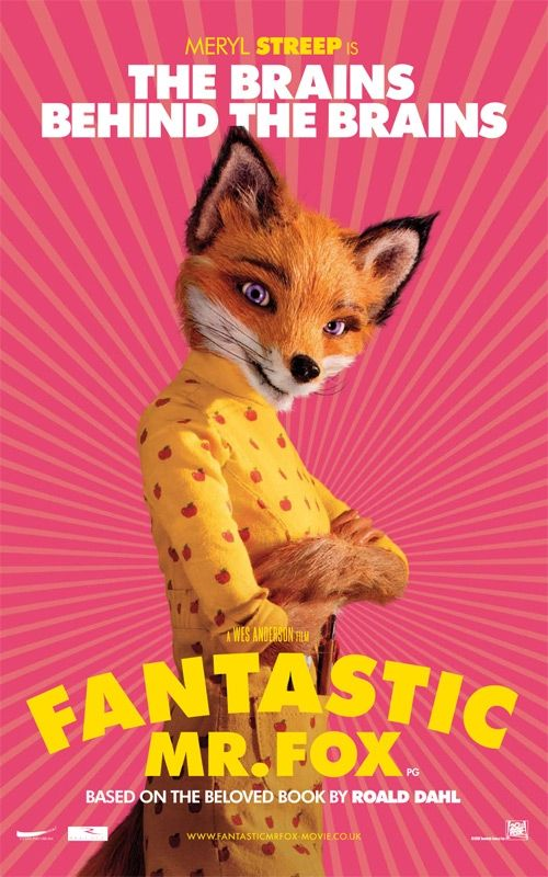 fantastic mr fox the brains meryl streep Poster Friday: Toy Story 3, Saw VI, A Christmas Carol & Many More!