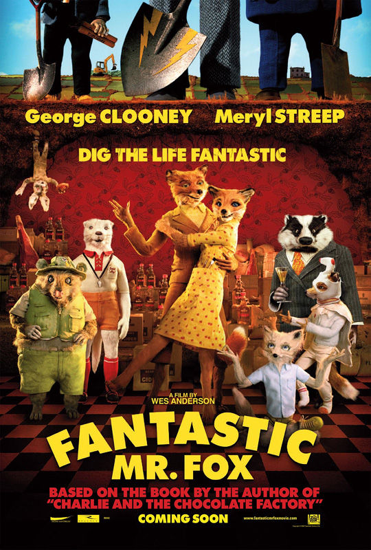 fantastic mrfox poster New Posters: The Road, 2012, Where The Wild Things Are & More!