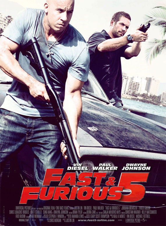 fast five poster Movie Poster Roundup: Fast Five, Thor, X Men: First Class & More